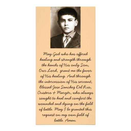 Blessed Jose Sanchez Canonization Prayer Cards Photo Card Template