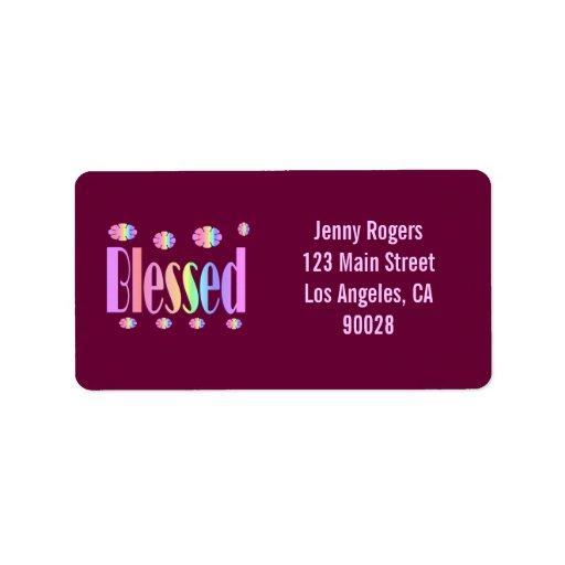Blessed Address Label