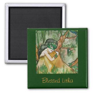 Blessed Litha Earth Goddess Magnet