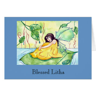 Blessed Litha Fairy Fantasy Greeting Card