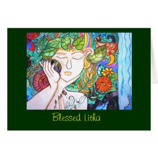 Blessed Litha Nature Goddess Greeting Card