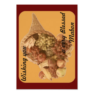 Blessed Mabon Cornucopia 4.5x6.25 Paper Invitation Card