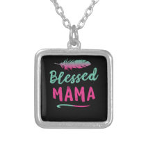 Blessed Mama Puerto Rico Mom Mothers Day Silver Plated Necklace
