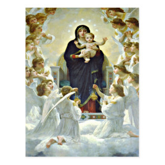 Blessed Mary and Jesus postcard
