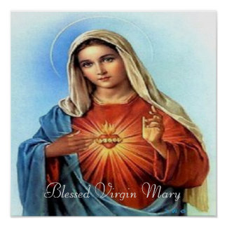 Blessed Mary print Poster