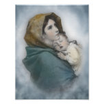 Blessed Mother and Baby Jesus watercolor Posters