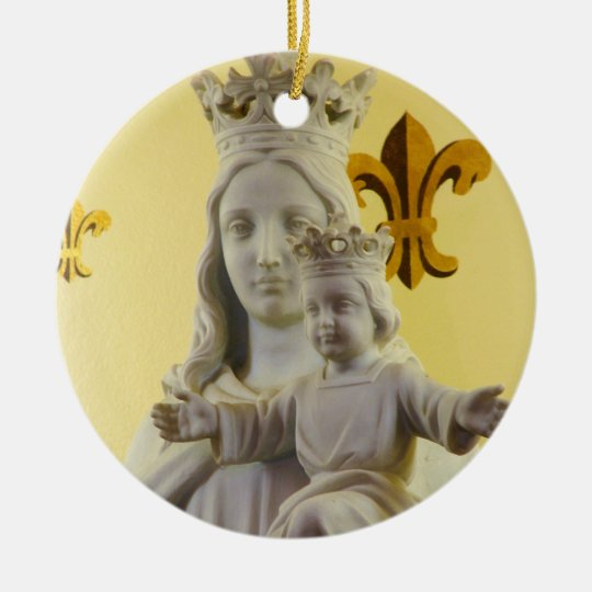 Blessed Mother and Child Ceramic Ornament