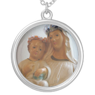 Blessed Mother and Child Necklace