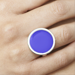 Blessed Mother Blue Ring