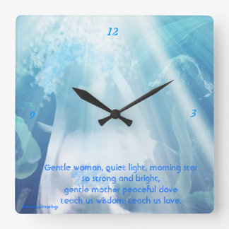 Blessed Mother Mary....Wallclock Square Wall Clock
