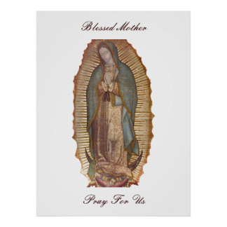 BLESSED MOTHER PRAY FOR US (EXTRA LARGE 40X53) POSTER