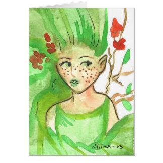 Blessed Ostara Tree Spirit Greeting Card