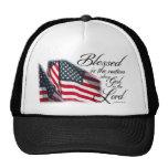 Blessed patriótica es la nación gorras de camionero