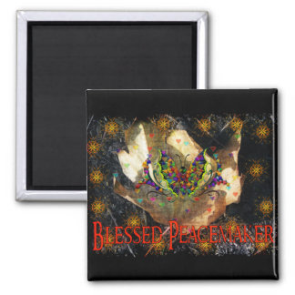 Blessed Peacemaker 2 Inch Square Magnet