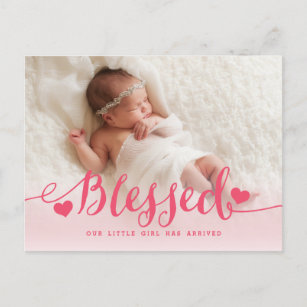 Blessed With Baby Girl Gifts On Zazzle