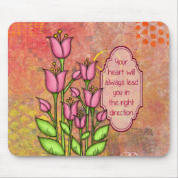 Blessed Positive Thought Doodle Flower Mousepad