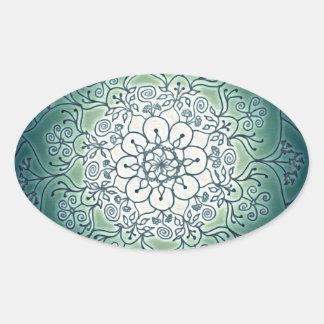 Blessed Rain-Glow Oval Sticker