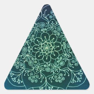 Blessed Rain Mandala Triangle Sticker