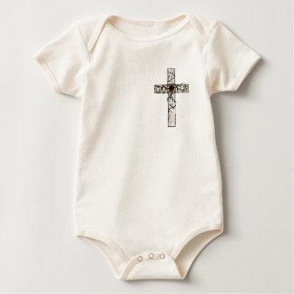 Blessed Rose Cross Infant Jumper Baby Creeper
