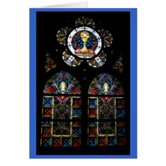 Blessed Sacrament and Angel stained glass windows Greeting Card