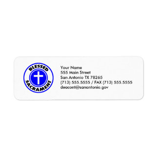 Blessed Sacrament Label