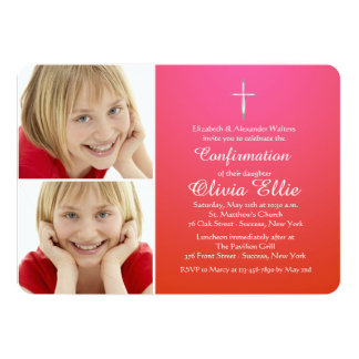 Blessed Sacrament Religious Photo Invitation