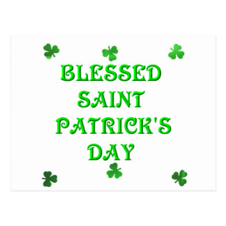 Blessed Saint Patrick's Day (1) Postcard