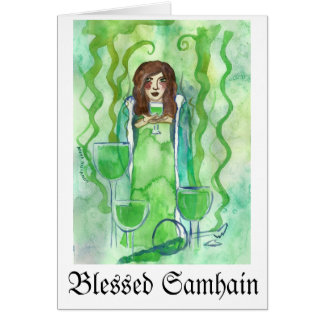 Blessed Samhain evil queen Greeting Cards