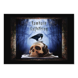 Blessed Samhain Gathering Invitation - The Raven