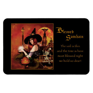 Blessed Samhain Magical Witch Magnet