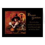 Blessed Samhain - Magickal Night Greeting Card