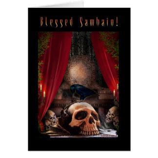 Blessed Samhain - Ravens Den Greeting Card