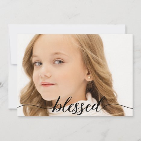 Blessed Script 1st Holy Communion Photo Thank you