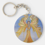Blessed Seraphim Angel Basic Round Button Keychain