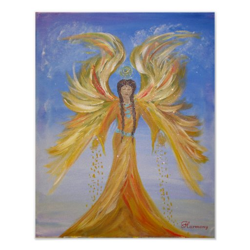 Blessed Seraphim Angel Poster