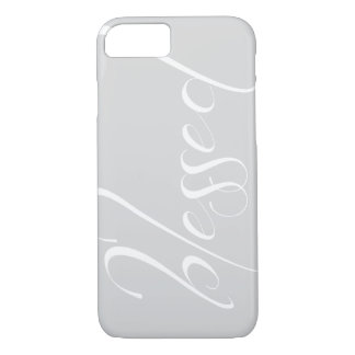 Blessed Silver Gray Statement iPhone 7 case