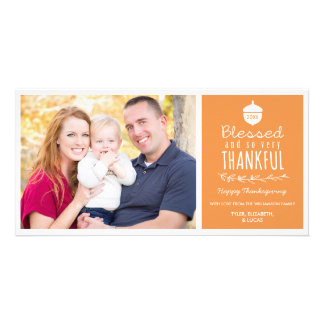 Blessed & so very Thankful Thanksgiving Photo Card