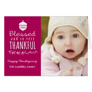 Blessed Thanksgiving Photo Greeting Card