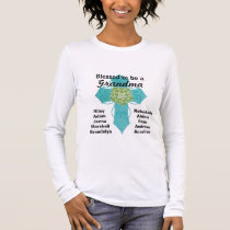 Blessed to be a Grandma Teal Cross Shirt