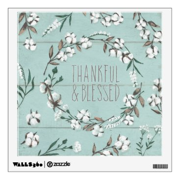 Art Themed Blessed VI Mint | Thankful & Blessed Wall Sticker