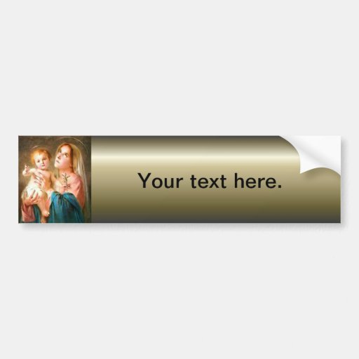 Car sticker designer - Blessed Virgin Mary And Infant Child Jesus Bumper Sticker Zazzle