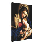 Blessed Virgin Mary and Infant Child Jesus Canvas Print