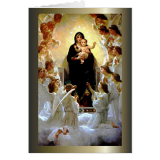Blessed Virgin Mary and Infant Child Jesus Card