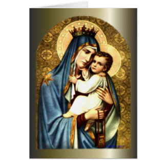 Blessed Virgin Mary and Infant Child Jesus Cards