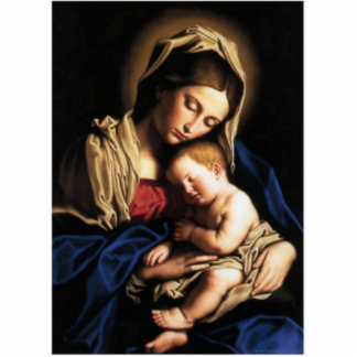 Blessed Virgin Mary and Infant Child Jesus Cutout