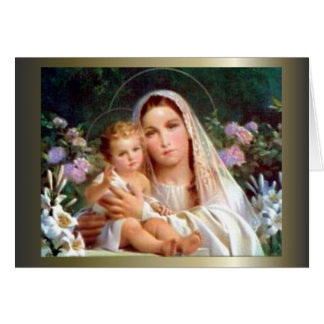 Blessed Virgin Mary and Infant Child Jesus Greeting Card