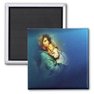 Blessed Virgin Mary and Infant Child Jesus Magnet