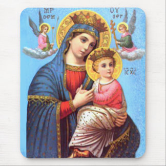 Blessed Virgin Mary and Infant Child Jesus Mouse Pad