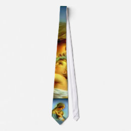 Blessed Virgin Mary and Infant Child Jesus Neck Tie