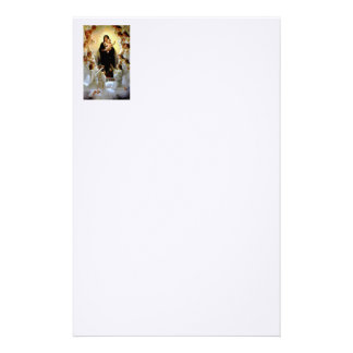 Blessed Virgin Mary and Infant Child Jesus Stationery